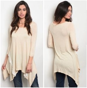 Lace detail tunic